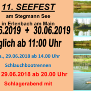Vorankündigung:Seefest – Schlauchbootrennen